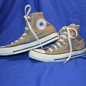 Converse Hi tops Gray Gently worn Mens 4 Women 6